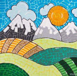 Alberta Acrylic Folk Art Painting