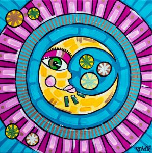 Little Moon Acrylic Painting