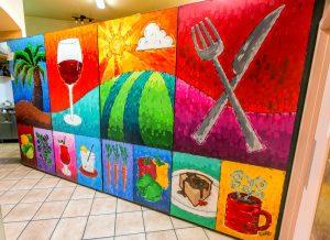 Mocha Cabana Mural using Logo elements Lethbridge, Alberta