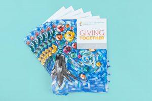 Community Foundation 50 Years Art on Magazine