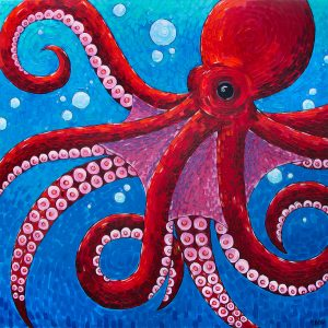 Sydney Octopus Painting by Michelle L. Cote