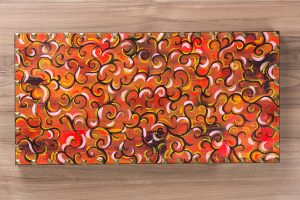 The Thicket Pattern Acrylic Painting w/ Tack Border