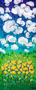 Big Sky Blooms Acrylic Painting