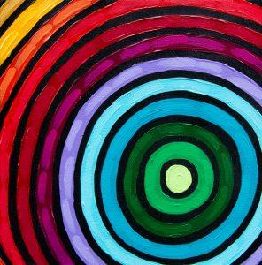 Rainbow Ripple Acrylic Painting