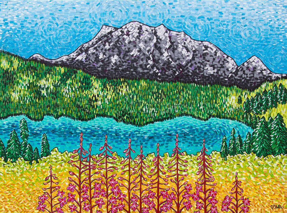 Emerald Lake Yukon Folk Art Landscape Painting